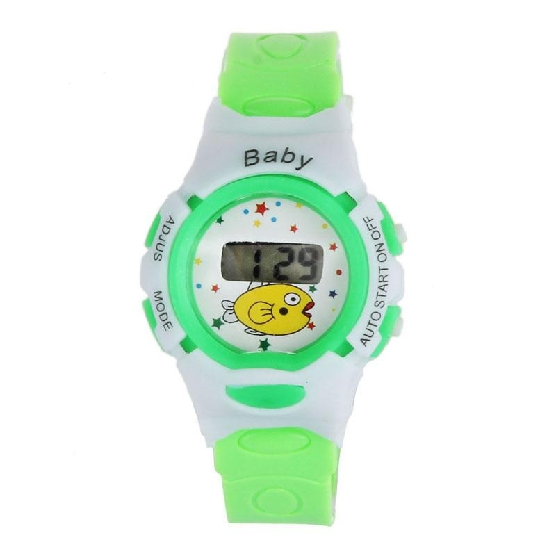 New Boys Girls Students Time Electronic Digital Wrist Sport Watch Green - intl bán chạy