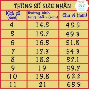 Nhẫn Titan Nữ hoa 6 cánh xinh xắn NH015 (Size5 - Size8)