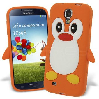 Bảng Giá niceEshop 3D Penguin Silicone Soft Skin Gel Case for Samsung Galaxy SIV S4 i9500 (Orange) – Intl   niceE shop