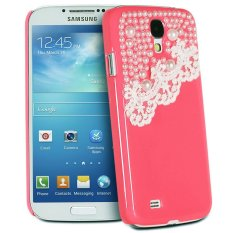 Giá Niêm Yết niceEshop Deluxe Hand Made Lace and Pearl Hard Case for Samsung Galaxy S4 IV i9500 (Hot Pink) – Intl   niceE shop