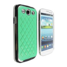 Nơi Bán niceEshop Deluxe Quilted Synthetic Leather Chrome Side Hard Case for Samsung Galaxy S3 i9300 (Green) – Intl   niceE shop