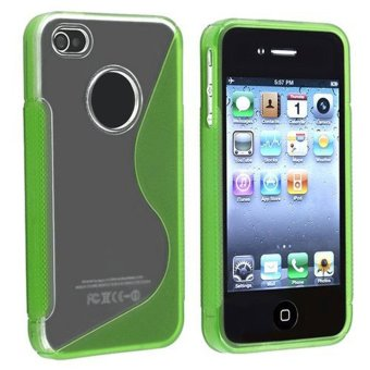 Cập Nhật Giá niceEshop GreenS Line Wave TPU Silicone Case Cover for iPhone 4 4S (Green) – Intl   niceE shop