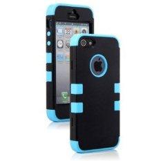 Giá Niêm Yết niceEshop Impact Resistance Case Fit for iPhone 5 5S (Black/Blue) – Intl  niceE shop