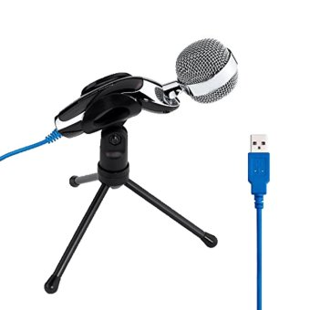 Cập Nhật Giá niceEshop Professional Podcast Studio USB Microphone for Pc Laptop Skype MSN Recording(Silver)   niceE shop