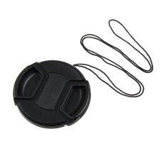 Giảm Giá niceEshop Universal 67mm Lens Cover Snap on Lens Cap With Cable for SLR Cameras (Black)   niceE shop