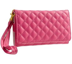 Báo Giá niceEshop Wallet Style Premium Quilted Synthetic Leather with Credit Card/ID Slots Cover for Apple iPhone 3G 4 4S 5G 5 5S (Pink) – Intl   niceE shop