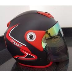 Nón Bảo Hiểm Moto Napoli Tem bọ cạp đỏ  Kiểm Định Quatest 3 ( kính 7 màu)
