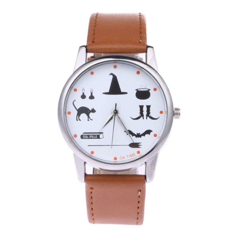 OK TIME Student Cartoon Design Leather Quarts Wristwatch (Light Brown) - intl bán chạy