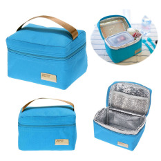 Thông tin Sp Portable Insulated Thermal Cooler Bento Lunch Box Tote Picnic (Blue)(Intl)   crystalawaking