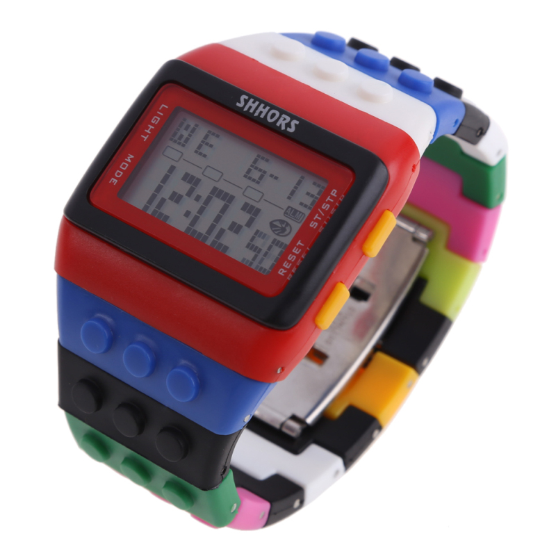 Retro Chic Unisex Digital Constructor Multi Function Watch Sports B - bán chạy