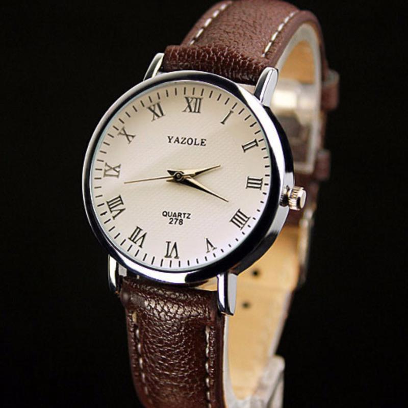 Nơi bán [SALE24h] Đồng hồ nữ dây da Yazole 278_BR5145 (Nâu)