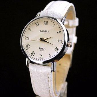 [SALE24h] Đồng hồ nữ dây da Yazole 278_WH5145 (Trắng)