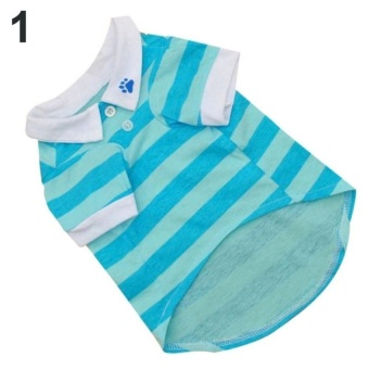 Sanwood Cute Dog Puppy Summer T-shirt Pet Striped PoloShirtTeeClothes Costume L (Blue) - intl - 8588197 , OE680OTAA704A0VNAMZ-12851362 , 224_OE680OTAA704A0VNAMZ-12851362 , 361620 , Sanwood-Cute-Dog-Puppy-Summer-T-shirt-Pet-Striped-PoloShirtTeeClothes-Costume-L-Blue-intl-224_OE680OTAA704A0VNAMZ-12851362 , lazada.vn , Sanwood Cute Dog Puppy Summe