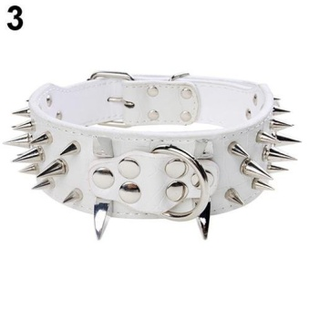 Sanwood Wide Sharp Spiked Studded Punk Dog Collar L (White) - intl - 8590616 , OE680OTAA70JWHVNAMZ-12872004 , 224_OE680OTAA70JWHVNAMZ-12872004 , 573300 , Sanwood-Wide-Sharp-Spiked-Studded-Punk-Dog-Collar-L-White-intl-224_OE680OTAA70JWHVNAMZ-12872004 , lazada.vn , Sanwood Wide Sharp Spiked Studded Punk Dog Collar L (Wh