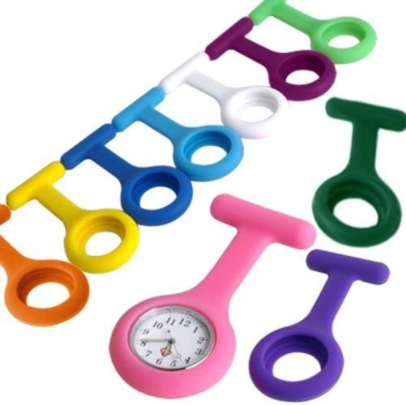 Silicone Nurse Brooch Fob Watch Tunic Watch Case 10 Colour - intl bán chạy