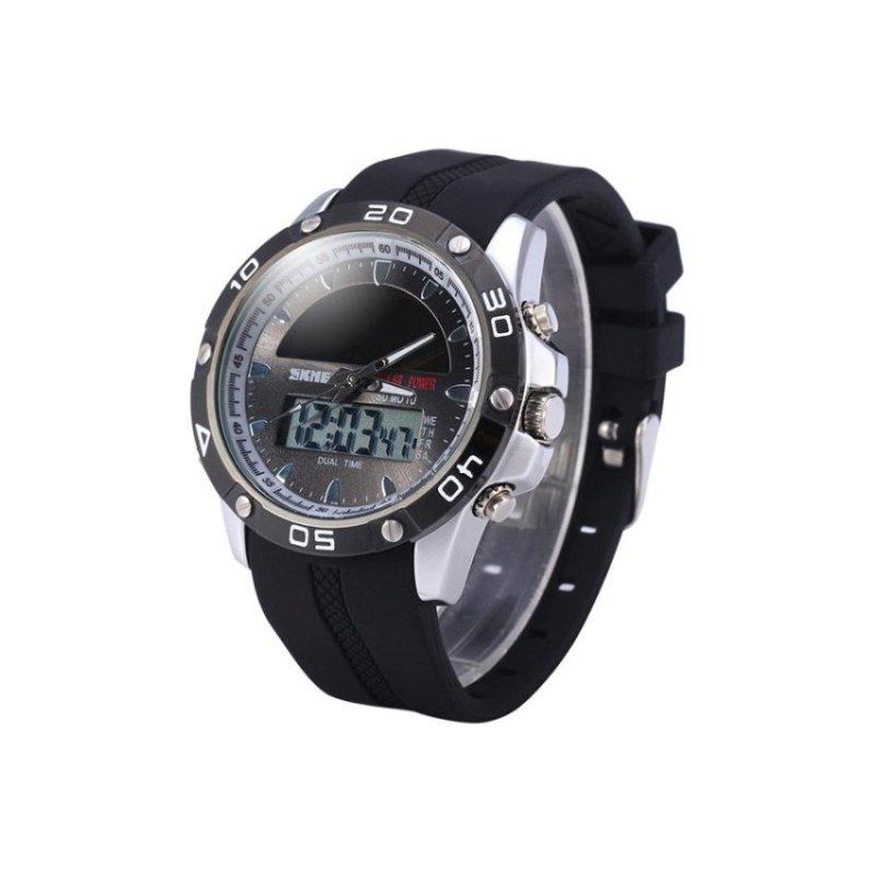 Nơi bán SKMEI 1064 Mens Black Rubber Strap Watch--TC(Not Specified)(OVERSEAS) - intl