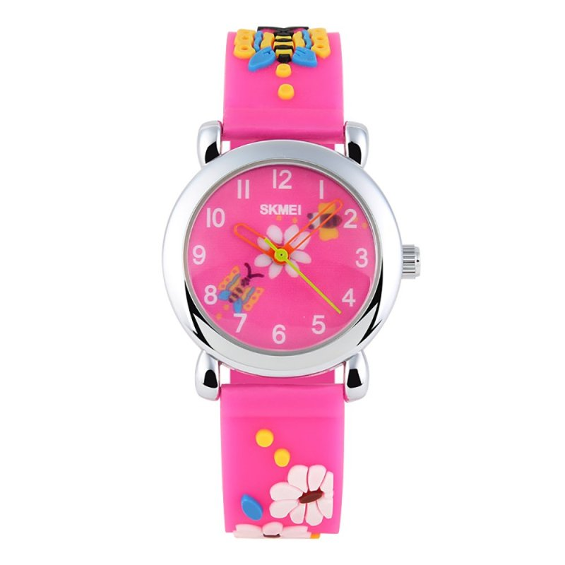 SKMEI Cute Innocence Analog Waterproof For Children Rose Red - intl bán chạy