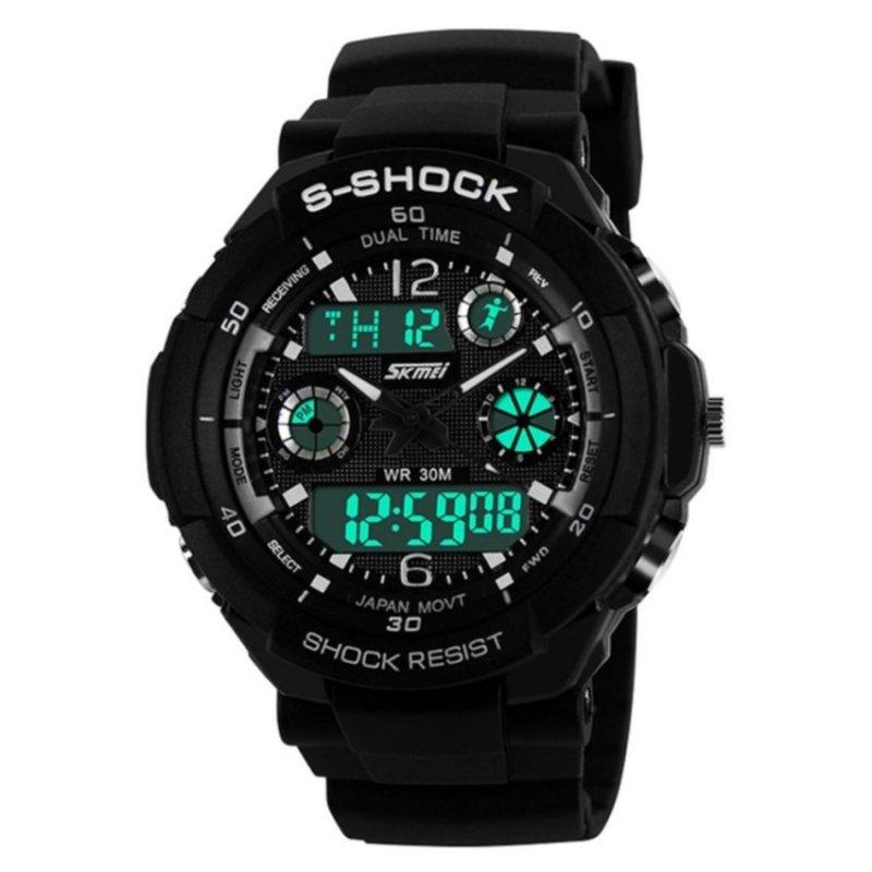 Nơi bán SKMEI Water Resistant 0931 LED Watch Silver Grey - intl