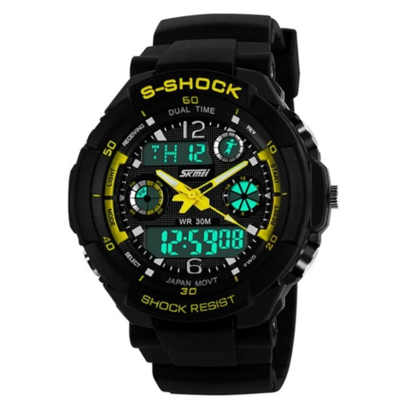 Nơi bán SKMEI Water Resistant LED Watch Yellow 0931(Not Specified)(OVERSEAS) - intl