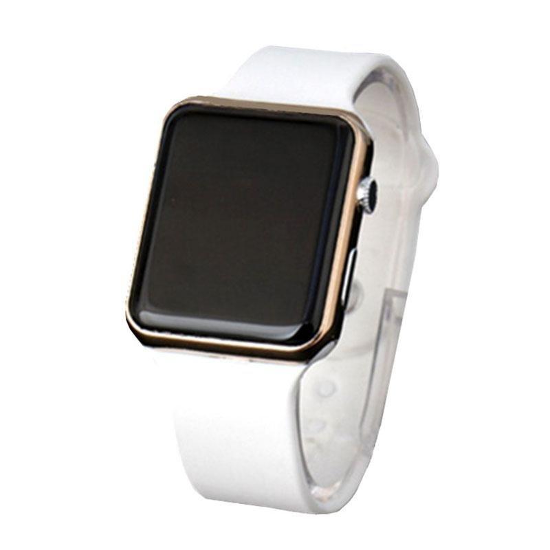 Nơi bán Students Men's Fashion Plastic LED Digital Date Quartz Sport Alarm Wrist Watch - intl