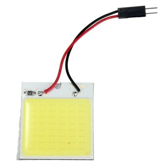 T10 BA9S 48 LED COB Chip Dome Festoon Interior Panel Plate Light Lamp Bulb