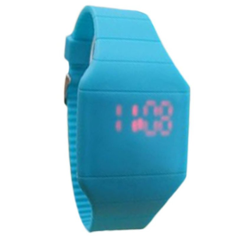 Nơi bán The Jelly Ultra-Thin LED Silicone Sport Wrist Watch Blue