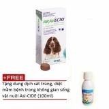 Thuốc phòng trị ghẻ, rận tai, ve, bọ chét và viêm da trên chó: 1 viên BRAVECTO medium (chó 10-20 kg) + Tặng 1 chai dung dịch diệt virus không gian sống vật nuôi Asi-CIDE (100ml)