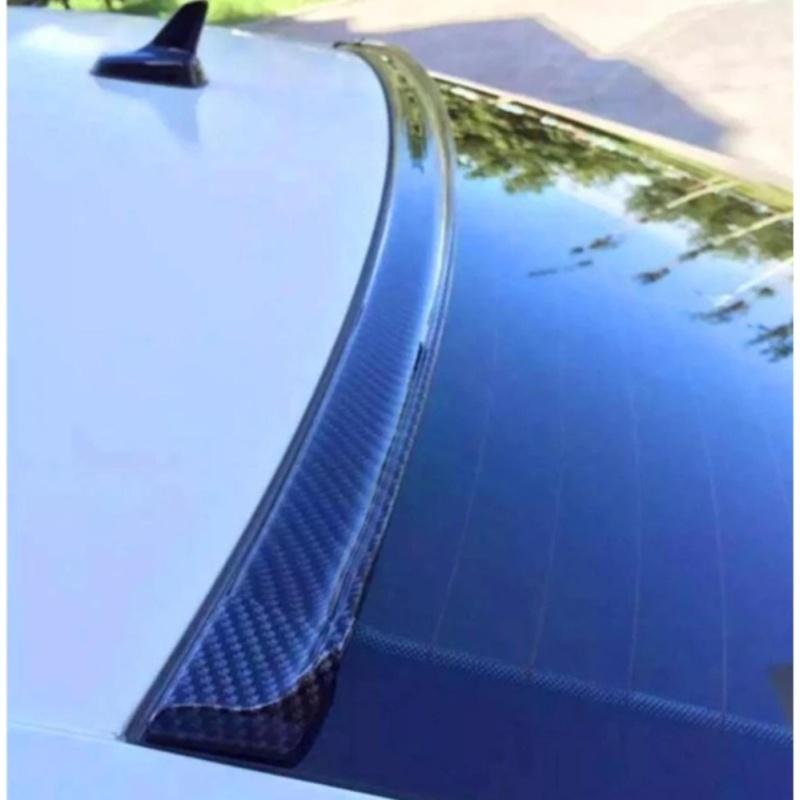 Trang trí cản lướt gió thể thao cao su dẻo vân Carbon