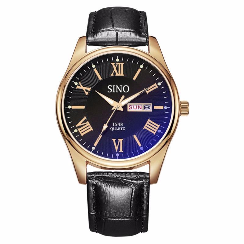 Nơi bán {TRỢ GIÁ}Đồng hồ nam dây da cao cấp Sino Japan Movt rose gold S1548  +Tặng vòng dây chuyền