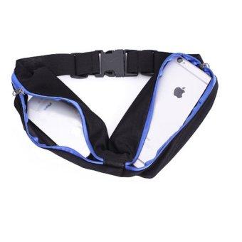 Túi đeo ngang hông thể thao (Đen Viền Xanh)