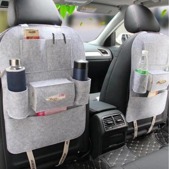 Túi đựng đồ 6 ngăn tiện dụng đa năng trên ô tô (Kem)