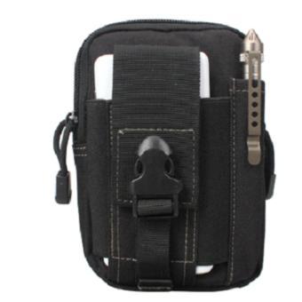 Túi nhỏ đeo thắt lưng du lịch nhiều ngăn đa năng loại 1 H03-Đen