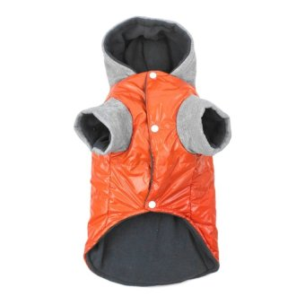 UINN Winter Dog Coat Shine Thickening Hoody Jacket Warm Coat DogsClothes With Cap - intl