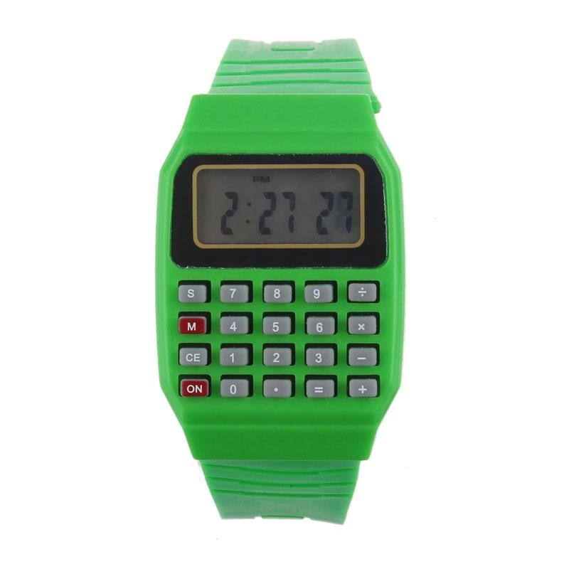 Unsex Silicone Multi-Purpose Time Electronic Wrist Calculator Watch GN - intl bán chạy