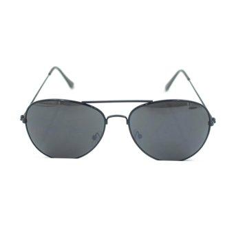 UV400 Men Hot Sale Metal Vintage Sunglasses Black - Intl