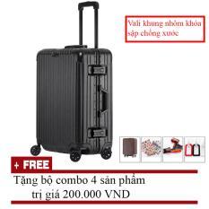 Tư vấn mua Vali du lịch khung nhôm khóa sập chống xước (size 24inch)