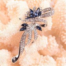 Nơi Bán Velishy Crystal Brooches Lovely For Female Retro Fashion Gift SilverBlue – intl  Veli shy