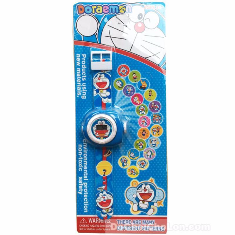 Vỉ đồ chơi đồng hồ Doraemon chiếu hình ảnh lên tường bán chạy