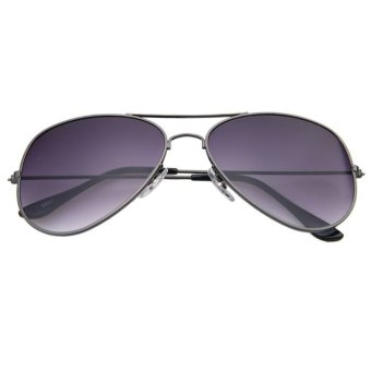 Vintage Retro Aviator Mirror Lens Sunglasses Purple