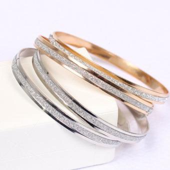 Vòng đeo tay đôi vàng 18k lấp lánh