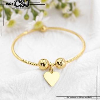 Vòng - lắc tay inox nữ thời trang mạ vàng 24k mẫu LT318 cao cấp đẹpgiá rẻ