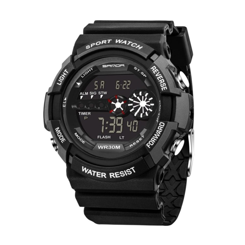 Nơi bán Waterproof Digit Electronic Luminous Sport Watch for SANDA (Black) - intl