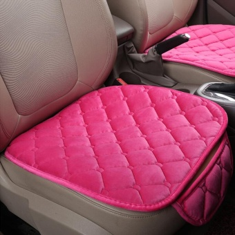 Winter feather velvet anti-skid car cushion single piece without back - intl