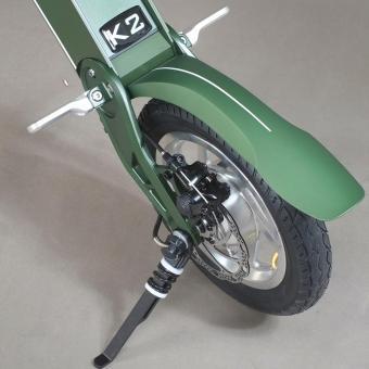 Xe điện gấp thời trang LEHE K2 (Xanh rêu)
