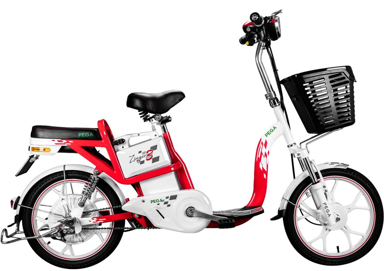 Xe điện Zinger Color3 (Đỏ trắng)