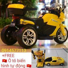 Xe máy điện trẻ e 5188 ( tặng ô tô biến hình tự động )