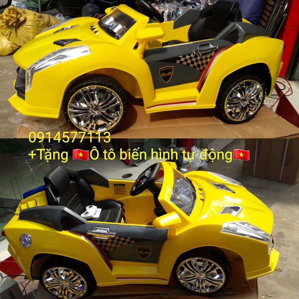 Xe ô tô điện trẻ em HSD-8201 ( tặng ô tô biến hình tự động )