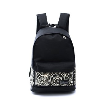 YBC Fahsion Women Printing Canvas Backpack Book Bags VintageRucksack - intl