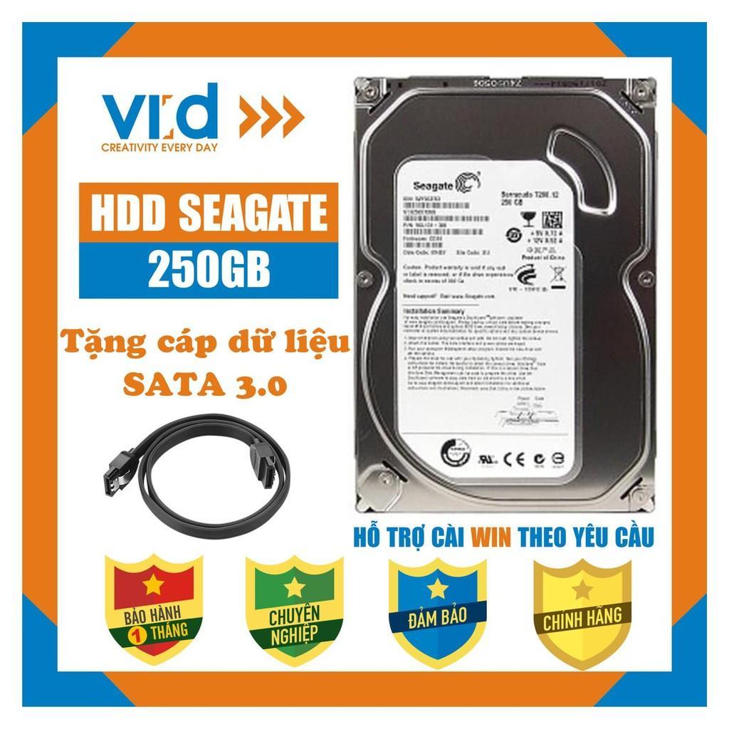 Ổ cứng HDD 250GB Seagate - Tặng cáp sata 3.0 - Hàng tháo máy đồng bộ nhập khẩu mới 98% - Bảo hành 1 tháng