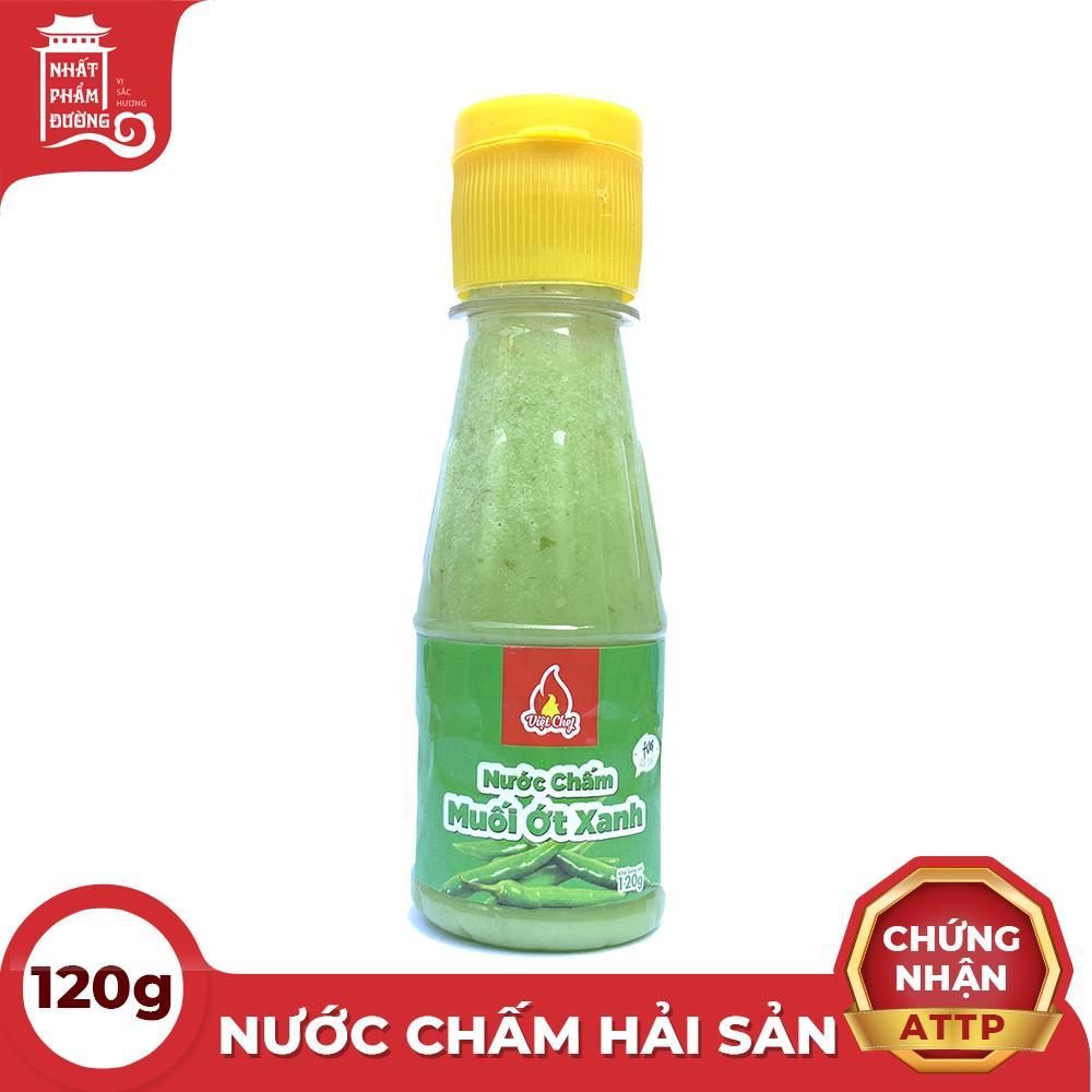 Nước chấm hải sản muối ớt xanh chai lớn 120g nguyên chất 100% thích hợp dùng với các món hải sản, làm nước chấm ghẹ, bề bề, tôm, chân gà